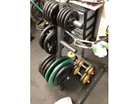 Body max Olympic weight plate holder rack