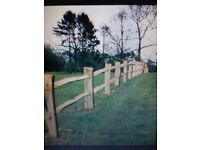 Chestnut fencing post and rail and post for sale