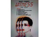 2018 KATY PERRY WITNESS TOUR TICKETS ×2 LONDON 02