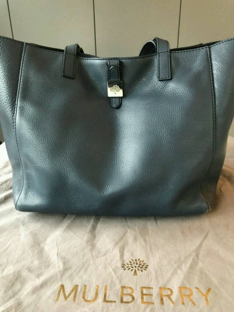 e5edb3b40710 AUTHENTIC MULBERRY TESSIE TOTE in Regal Blue with Dustbag