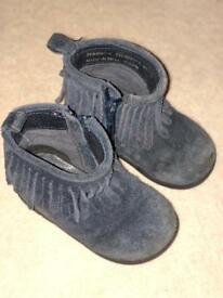 Next size 5 Navy frill Boots