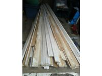 """3"""" approx X 7FT LENGTHS.WOODEN PINE WOOD BATTENS ARCHITRAVE ARCHITRAVING DOOR PICTURE FRAMING JOBLOT"""