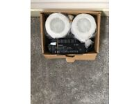 Chrome Halogen Spotlights with Transfomers Included New in Box.