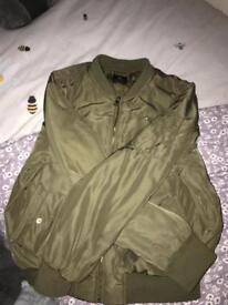 Khaki bomber jacket