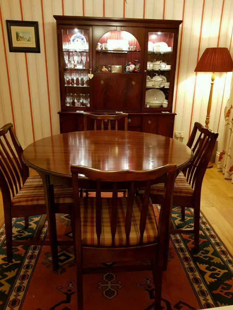 Stag Dining Table And 4 Chairs With Matching Dresser
