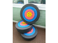 Set of 3 Archery Targets, slightly used, but loads of life left in them