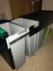 In cupboard recycling bins