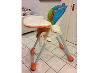 Chicco Child's folding high chair. Excellent condition. £40.
