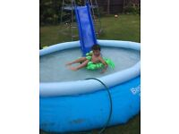 Brand new 10foot pool ring has hole but fixable