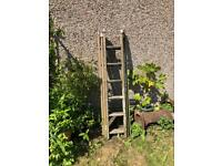 3 Section Wooden Ladder 5ft 4 in closed
