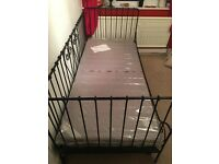 Ikea metal frame day bed and 2 mattresses