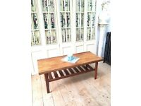 VINTAGE RETRO MID-CENTURY TEAK COFFEE TABLE