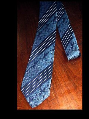 1950s Men's Ties, Bow Ties – Vintage, Skinny, Knit Vintage Mens WEATHER VANE GEESE 1950's SKINNY Sharkskin NECK TIE EC $9.75 AT vintagedancer.com