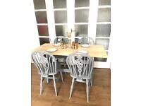OAK TABLE AND CHAIRS FREE DELIVERY LDN🇬🇧