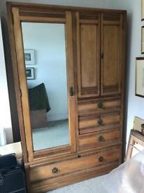 Antique solid wood Compactum Gentlemen's Wardrobe art deco Arts & Crafts 1920s?