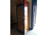 shop size lucozade chiller cabinet