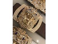 Designer diamonds belts for men and women
