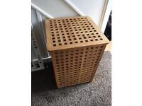 Large wooden Ikea laundry box/storage box