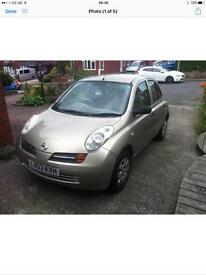 Nissan micra 2003 car gold in colour 1.2