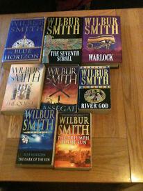 Wilbur smith, conn iggulden, bernard cornwell , e.t.c books