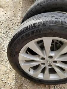 TOYOTA VENZA / HIGHLANDER FACTORY OEM 19 INCH ALLOY WHEELS WITH SENSORS & ALL SEASON 245 / 55 / 19 TIRES
