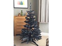 John Lewis 4ft Charcoal tinsel Christmas tree