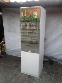 Used condition single door wardrobe mirror + 2 shelves only £35
