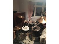 Mapex M series 6 piece drum kit with cymbals and Janus drum pedal