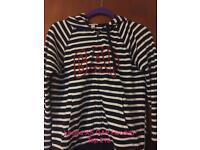 Ladies XS GAP striped hooded top