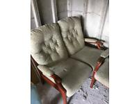 2 seater and 1 seater chair