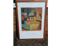 3 Large picture frames including Paul Klee picture