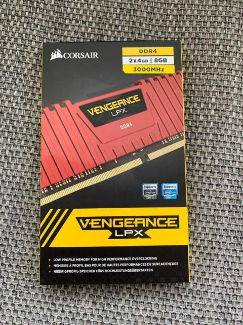 Corsair Vengeance LPX DDR4 8gb, 2x4gb dual channel 3000mhz memory / ram |  in Motherwell, North Lanarkshire | Gumtree