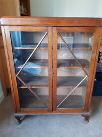 Solid Wood Display Cabinet with glass doors