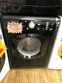 HOTPOINT 7KG 1400 SPIN WASHING MACHINE IN BLACK