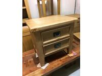 Chunky oak end table new