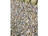 I have 20 bags of - Garden gravel / pebbles / stones - im looking for £1.50 a bag or £25 for it all