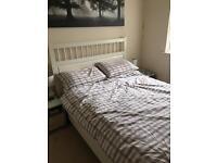Ikea Hemnes wooden double bed
