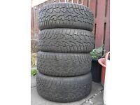 4x 225/45/17 tyres