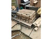 Pallets and roofing timbers