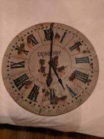 Rustic style kitchen clock