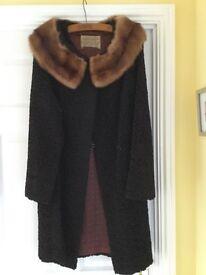 Vintage black coat size 10/12