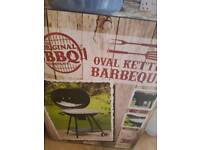 Brand new oval barbeque
