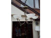 Chandelier Ceiling Light. 5 G9 25 watt Led Capcule bulbs
