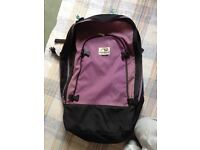 MacPac purple double bag backpack