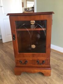 Hi-Fi/Record Player Cabinet made of Yew Wood