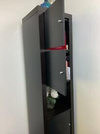 Black storage cabinet