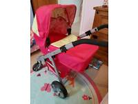 Childrens mamas and papas doll baby pram pushchair