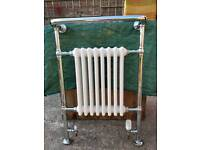 Victorian style heated towel rail