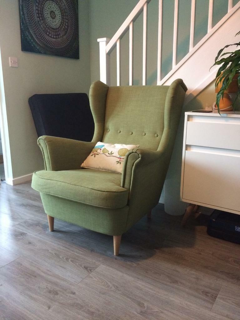 ikea strandmon armchair in green in southampton. Black Bedroom Furniture Sets. Home Design Ideas