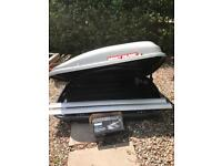 Mont Blanc roof box with Thule roof rails